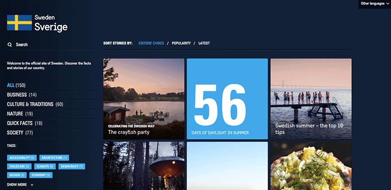 svédország weblapja