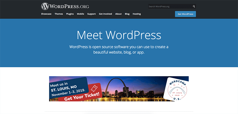 wordpress.org website