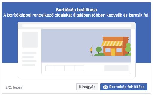 Facebook borítókép beállítása