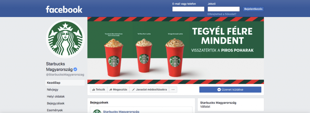 Facebook céges logó