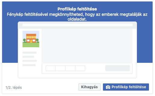 Facebook profilkép feltöltése