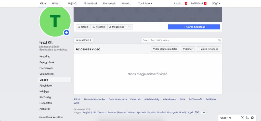 Facebook videók