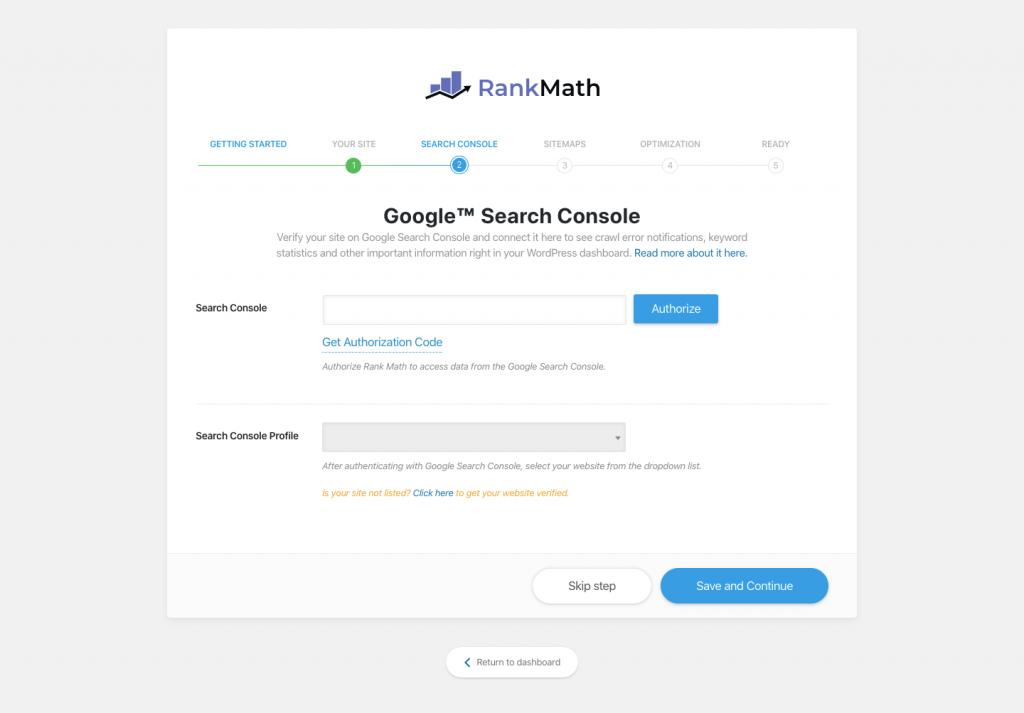 Search Console integráció