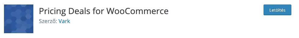 pricing deals Woocommerce bővítmény