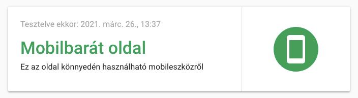 Mobilbarát reszponzív